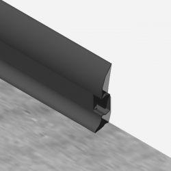 Plinta LINECO din PVC culoare neagra pentru parchet - 60 mm