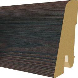 Plinta MDF Egger 60x17 mm culoare Pin negru