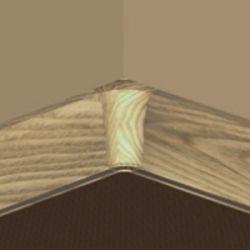 Set 4 buc piese de colt interior plinta PBC