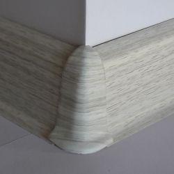 Set 4 buc. piese Lineco imbinare colt exterior pentru plinta PVC culoare frasin alb