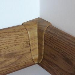 Set 4 buc. piese Lineco imbinare colt interior pentru plinta PVC culoare stejar miere