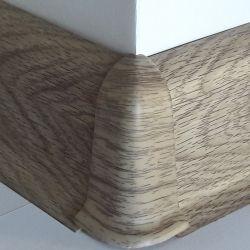 Set 4 buc. piese Lineco imbinare colt exterior pentru plinta PVC culoare stejar Mocha