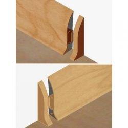 Set 4 buc piese de inchidere plinta (2 buc. dreapta + 2 buc. stanga) pentru plinta PVC culoare fag inchis