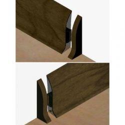 Set 4 buc piese de inchidere plinta (2 buc. dreapta + 2 buc. stanga) pentru plinta PVC culoare wenge