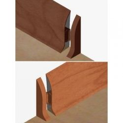 Set 4 buc piese de inchidere plinta (2 buc. dreapta + 2 buc. stanga) pentru plinta PVC culoare cires inchis