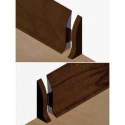 Set 4 buc piese de inchidere plinta (2 buc. dreapta + 2 buc. stanga) pentru plinta PVC culoare stejar maroniu