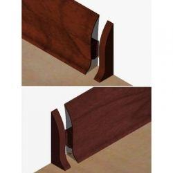 Set 4 buc piese de inchidere plinta (2 buc. dreapta + 2 buc. stanga) pentru plinta PVC culoare mahon