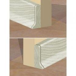 Set 4 buc piese de inchidere plinta (2 buc. dreapta + 2 buc. stanga) pentru plinta PVC culoare artar alb