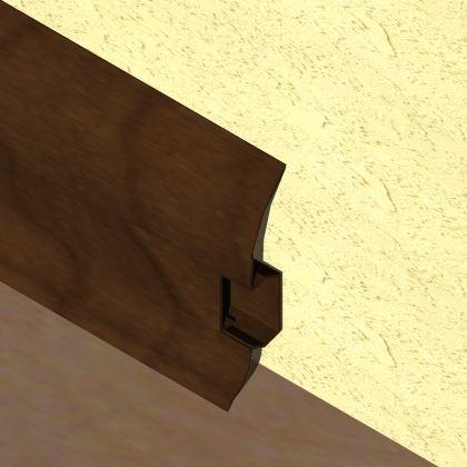 Plinta LINECO din PVC culoare stejar maroniu pentru parchet - 60 mm