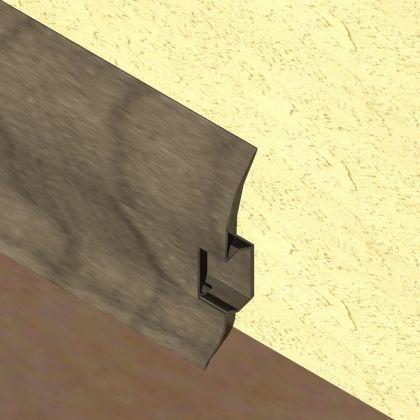 Plinta LINECO din PVC culoare gri maroniu pentru parchet - 60 mm