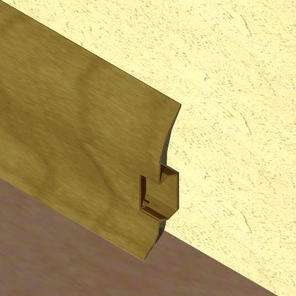 Plinta LINECO din PVC culoare nuc inchis pentru parchet - 60 mm