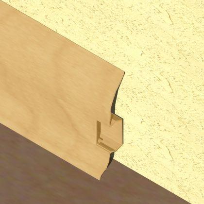 Plinta LINECO din PVC culoare fag inchis pentru parchet - 60 mm