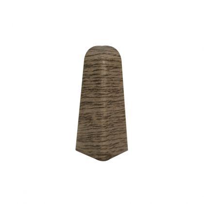 Set 2 buc. colt exterior pentru plinta MDF culoare stejar gri maro