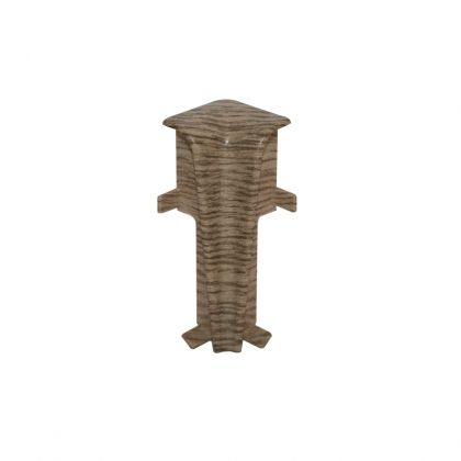 Set 2 buc. colt interior pentru plinta MDF culoare stejar gri maro