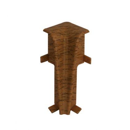 Set 2 buc. colt interior pentru plinta MDF culoare stejar maroniu roscat