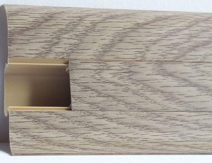 Plinta Lineco din PVC culoare stejar Mocha pentru parchet - 60 mm