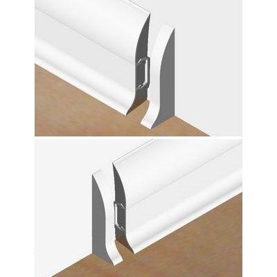 Set 4 buc piese de inchidere plinta (2 buc. dreapta + 2 buc. stanga) pentru plinta PVC culoare alba