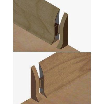 Set 4 buc piese de inchidere plinta (2 buc. dreapta + 2 buc. stanga) pentru plinta PVC culoare stejar vechi