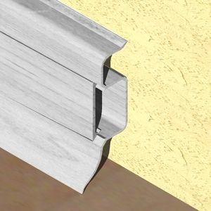 Plinta PROLUX din PVC culoare artar alb pentru parchet 50 mm