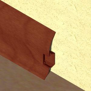 Plinta LINECO din PVC culoare mahon pentru parchet - 60 mm