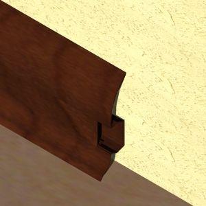 Plinta LINECO din PVC culoare cires maroniu pentru parchet - 60 mm