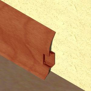 Plinta LINECO din PVC culoare cires inchis pentru parchet - 60 mm