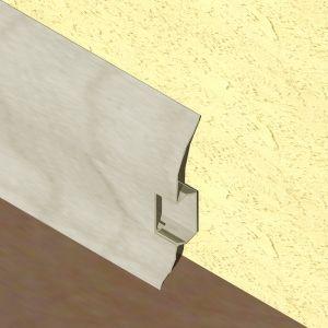 Plinta LINECO din PVC culoare artar alb pentru parchet - 60 mm