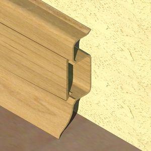 Plinta PROLUX din PVC culoare stejar deschis pentru parchet 50 mm