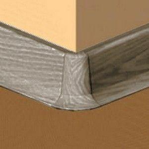 Set 4 buc piese de colt exterior pentru plinta PVC culoare gri maroniu