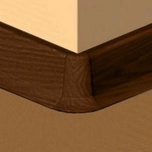 Set 4 buc piese de colt exterior pentru plinta PVc culoare cires maroniu