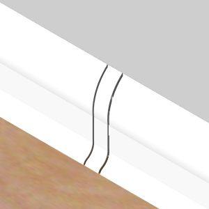 Set 4 buc piese de legatura pentru plinta PVC culoare alba