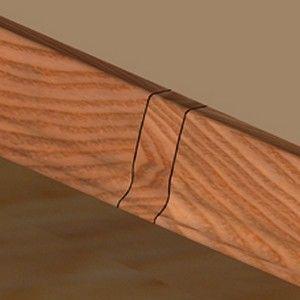 Set 4 buc piese de legatura pentru plinta PVC culoare cires
