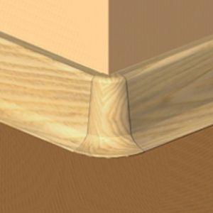 Set 4 buc piese de colt exterior pentru plinta PVC culoare fag
