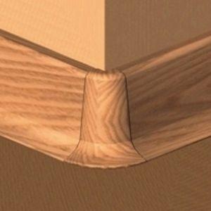 Set 4 buc piese de colt exterior pentru plinta PVC culoare cires