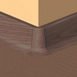 Set 4 buc piese de colt exterior pentru plinta PVC culoare mahon