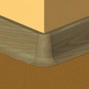Set 4 buc piese de colt exterior pentru plinta PVC culoare stejar vechi