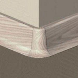 Set 4 buc piese de colt exterior pentru plinta PVC culoare artar alb