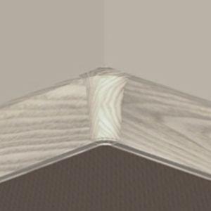 Set 4 buc piese de colt interior pentru plinta PVC culoare artar alb