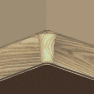 Set 4 buc piese de colt interior pentru plinta PVC culoare stejar