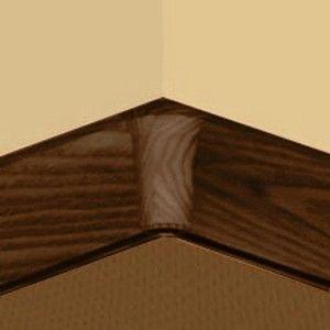 Set 4 buc piese de colt interior pentru plinta PVC culoare cires maroniu