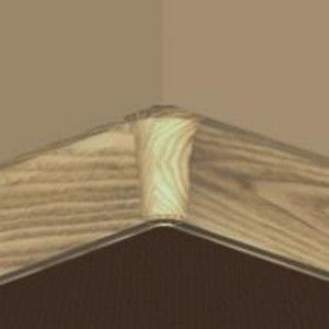 Set 4 buc piese de colt interior pentru plinta PVC culoare stejar deschis