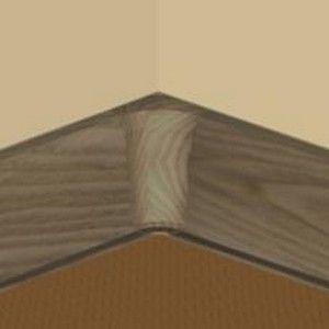 Set 4 buc piese de colt interior pentru plinta PVC culoare stejar vechi