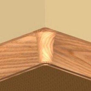 Set 4 buc piese de colt interior pentru plinta PVC culoare cires