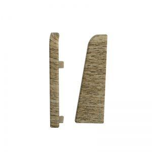 Set 2 buc. capac stanga / dreapta pentru plinta MDF culoare stejar maroniu mediu