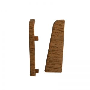 Set 2 buc. capac stanga / dreapta pentru plinta MDF culoare stejar maroniu roscat