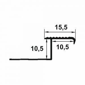 Protectie treapta Lineco din aluminiu 2500x22 x10 mm