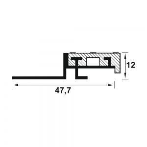 Protectie treapta Prolux cu insertie din aluminiu eloxat 2500 x11 mm
