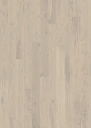 Parchet triplustratificat cu o lamela Karelia Stejar Story Creamy White lacuit - 3 MP