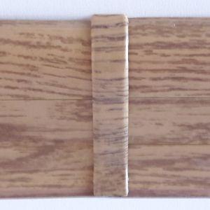 Set 4 buc. piese Lineco imbinare mijloc pentru plinta PVC culoare stejar miere