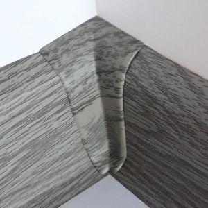 Set 4 buc. piese Lineco imbinare colt interior pentru plinta PVC culoare stejar cenusa